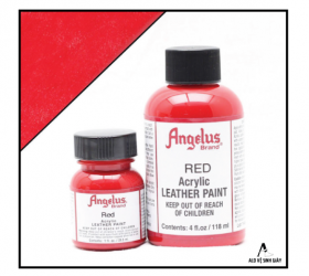 Màu vẽ da, vải Angelus Leather Paint Red – (1Oz | 4Oz)