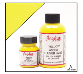 Màu vẽ da, vải Angelus Leather Paint Yellow – (1Oz | 4Oz)