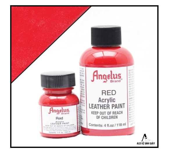 màu vẽ angelus leather red - alo vệ sinh giày